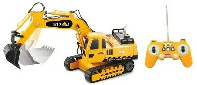 Remote Control 6 Function Excavator RC Bulldozer Truck Toy Digger Car Buggy Toy • 24.95£