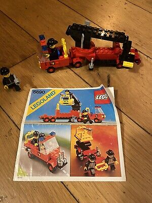 Lego Vintage 6690 Fire Truck And Men • 4.50£