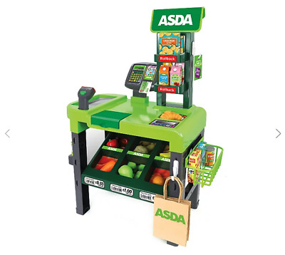 ASDA Toy Checkout Kids Roleplay Cash Register Pretend Play Supermarket XMAS Gift • 44.99£