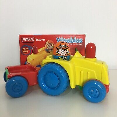Vintage 1995 Playskool Weebles Tractor Trailer With Farmer Weeble Figure - Boxed • 29.99£