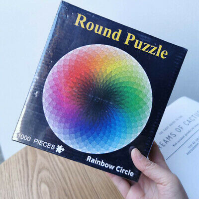 1000 Pieces Round Colorful Rainbow Jigsaw Puzzle Educational Adult Kids DIY Toy • 7.29£