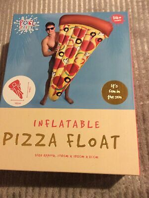 Giant Inflatable Pizza Pool Float -  - Swimming Beach Holiday 170cm X 102 X21cm • 12£