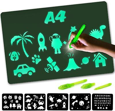 Nene Toys - Magic Drawing Boards With Light For Kids - Fluorescent A4  • 8.99£