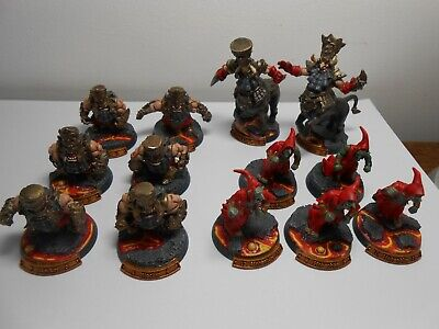 Blood Bowl Chaos Dwarf Team (x13 Players) Well Painted • 74£