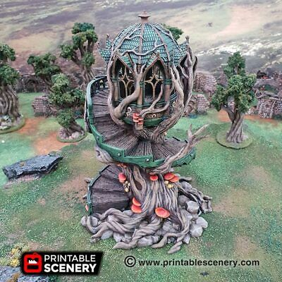 Elven Treehouse Watchtower - 28mm, Fantasy Tabletop Wargames, Warhammer Scale • 59£