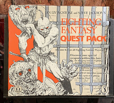 Rare Original 1984 Fighting Fantasy Quest Pack Unused Transfer Pads Dice Pencil • 45£