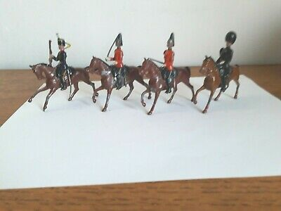 Four Vintage Britains Lead Toy Mounted Soldiers.  • 4.19£