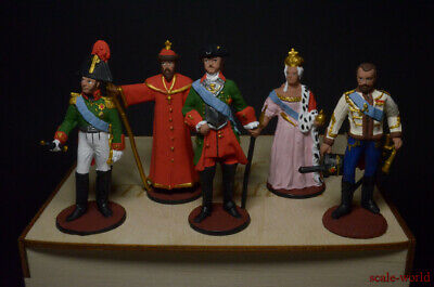 Set Rulers Tin Soldiers Gift Box 5 Figure Hand Painted 54mm • 53.69£
