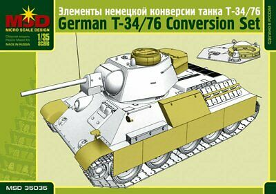 1/35 Scale Model. Elements Of The German Modification T-34/76 • 5.58£