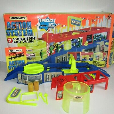Matchbox Action System Super Spin Car Wash     Playset With Box  Incomplete • 17.95£