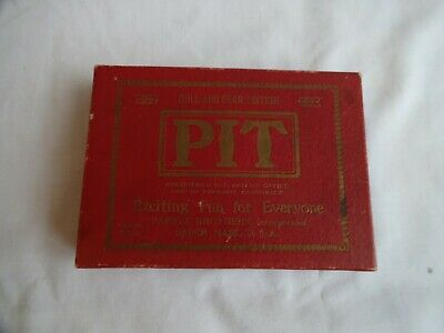 Vintage Pit Card Game Parker Brothers Dated 1919 Bull And Bear Edition Complete • 16£