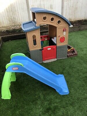 Little Tikes Go Green Playhouse Plus Slide • 16.60£