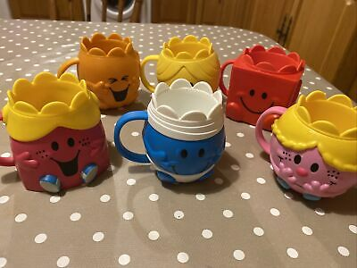 6 Mcdonalds Happy Meal Toy Mr Men & Little Miss Cups Strong Happy Tickle 2020 • 9.99£