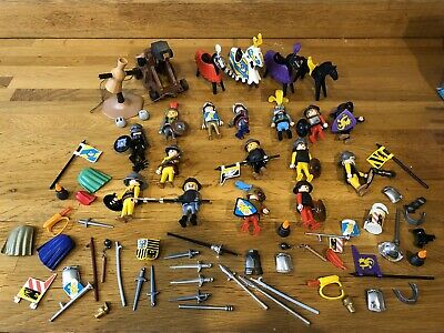Playmobil Knights Bundle, Catapult, Horses, Men • 25£