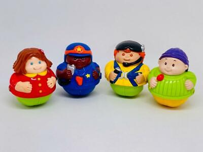Vintage Fisher Price Little People Rolling Wheel Weeble Wobble Toys X 4 • 9.99£