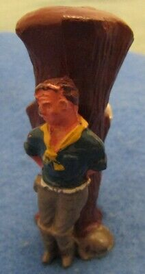 1950's Crescent Toys Lead Wild West Figure Cowboy & Cowgirl Tied To Tree  • 7.99£