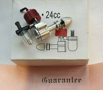 Rare Clan Small Diesel Model Aircraft Engine Clan .24cc Red Cylinder Engine • 56£