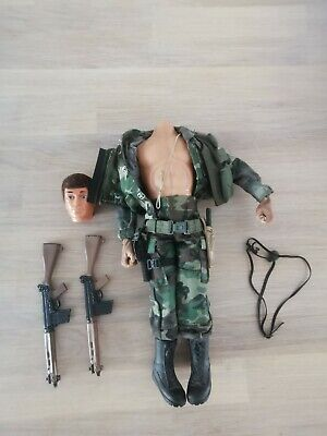 Vintage Action Man Talking Eagle Eye With Accessories - HEAD NEEDS RE-ATTACHING. • 39.99£