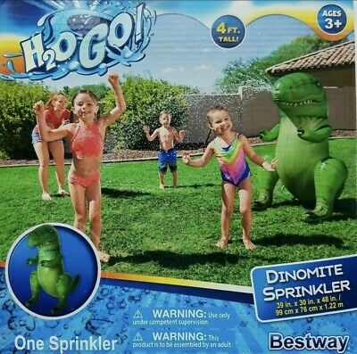 NEW Bestway Inflatable Dinomite Dinosaur Sprinkler New In Box 99cm X 76cm X1.22m • 15£