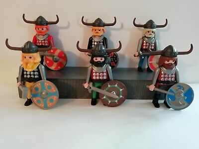 Playmobil -  6 Mixed Vikings With  Accessories • 14.99£