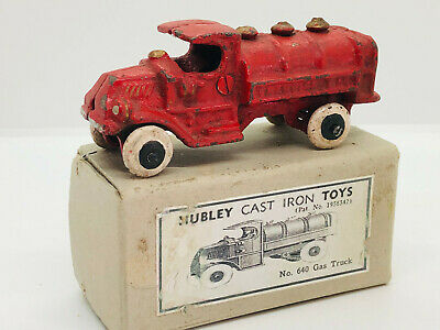 Vintage Hubley Cast Iron Gas Truck Hubley 640 Boxed • 25£