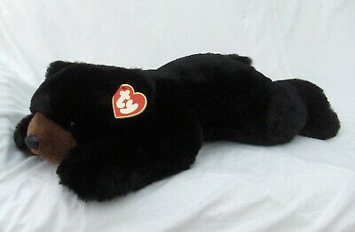 Ty 1996 Large Paws Black Bear Beanie Buddy 24  With Tags • 49.99£