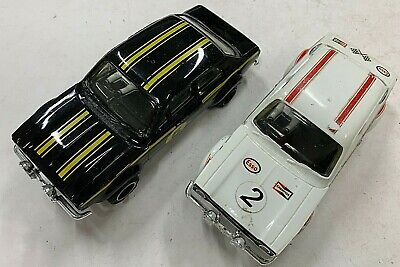 VINTAGE SCALEXTRIC C52 FORD ESCORT RS MEXICO MODELS X 2 BLACK & WHITE #3 • 33.33£