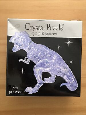 New Boxes Funtime T-Rex 3D Jigsaw Crystal Puzzle 49 Pieces Age 8+ • 10.99£