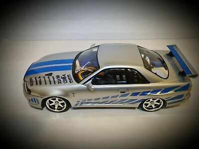 Fast And Furious 1/10 Skyline R34gtr Bodyshell For Tamiya TT01 Chassis • 125£