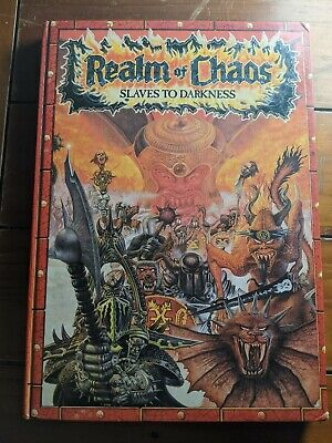 Warhammer Fantasy Vintage 80's Realm Of Chaos Slaves To Darkness Hardback Book • 46£