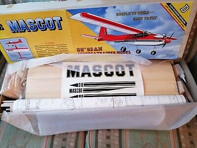 Mascot 59  Wingspan 3 Channel RC Trainer Model Plane Kit -Requires Full Assembly • 77£