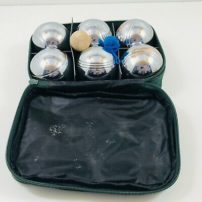 Vintage Metal Petanque Boules Set Of 6 With Original Carry Case Very Heavy  • 0.99£