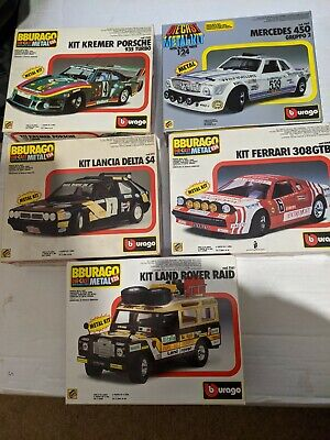 Burago 1/24  And 1/25 Scale Diecast Metal Model Car Kits • 50£