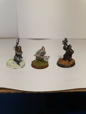 3x Khazad Guard Lord Of The Rings Games Workshop Metal • 4.29£