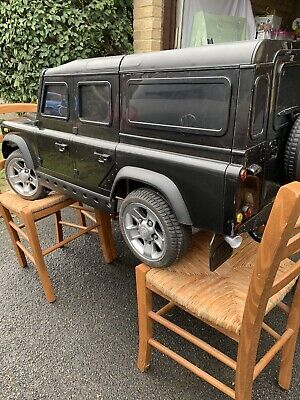 Land Rover Defender - Black Kids Sit On Single Seater Car - DA1525 • 150£