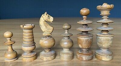 Large Old Wooden Chess Set With Box • 33.99£