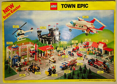 Lego Town New Sets / Free Sets Epic Poster 1988   • 4.99£