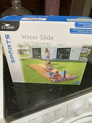 16ft Double Water Slide. Water Jets, Finish Flag And 2 Inflatable Surf Riders  • 18£