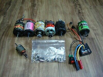 Selection Of Vintage Brushed Motors All But 1 Working With Esc And Spares • 35£
