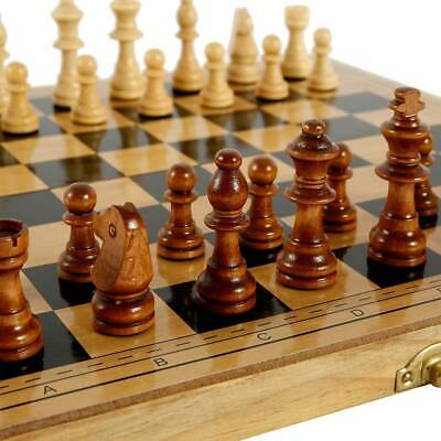 32 Piece Folding Large Wooden Chess Set High Quality Chessboard Kid Gift Toy K • 12.99£