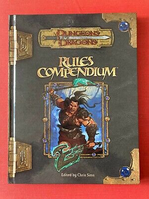 RULES COMPENDIUM Dungeons & Dragons V3.5 FIRST PRINTING Very Clean Hardback • 25£