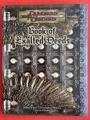 Book Of Exalted Deeds Dungeons & Dragons V3 FIRST PRINTING Very Clean Hardback • 18£