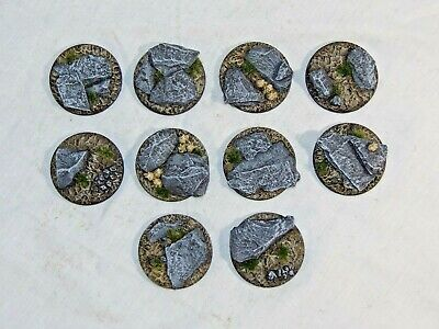 40mm Slate Scenic Resin Bases X5 Wargames Sci-fi Scenery By Daemonscape • 4£