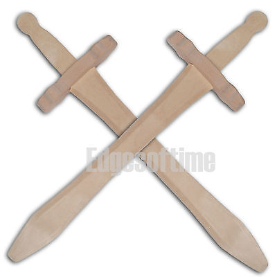 2 X Natural Wooden Fantasty Role Play Children's Toy Swords 48cm • 8.80£