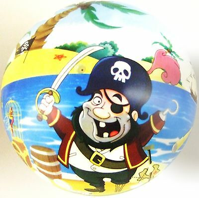 Pirate PVC Plastic Football Play Beach Ball Kid Party Child Pool Birthday Garden • 2.69£