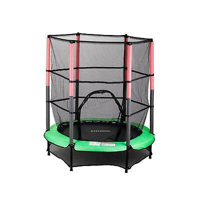 WestWood Children's Mini Trampoline With Safety Net – 4.5FT Kids Rebounder Green • 99.90£