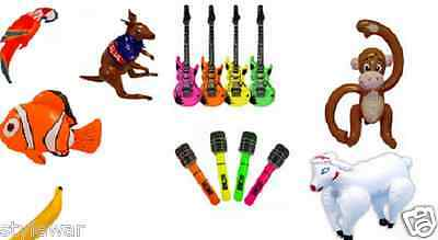 Inflatable Blow Up Toys Banana Guitar Halloween Stag Hawaiian Fancy Dress Party • 1.99£
