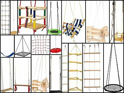 Garden Outdoor Toy Swings Rope Ladders Toddler Swings Net Swing Climbing Wall  • 44.99£