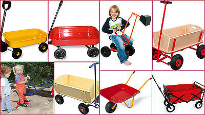 Wheelbarrow Kids Outdoor Toys Trolley Digger Handcart Pull Along Cart - New • 44.99£