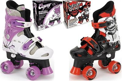 NEW Childrens Kids Boys Girls Osprey Adjustable 4 Wheel Quad Roller Skates Boots • 32.99£